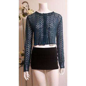 Vintage☆Crop Knitted Cardigan